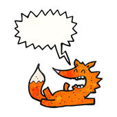 Funny little fox laughing — Stock Vector