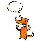 Funny fox — Stock Vector