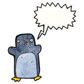 Crazy penguin — Stock Vector