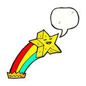 ретро падающая звезда — Cтоковый вектор