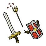 Постер, плакат: Medieval weapons