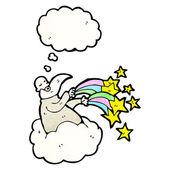 上帝在云上 — 图库矢量图片