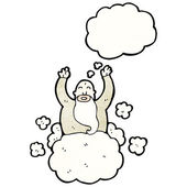 Gott auf wolke — Stockvektor