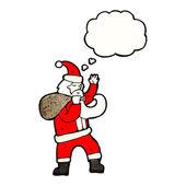 Traditional santa — Stock Vector