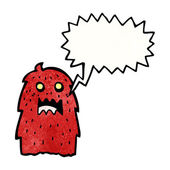 Spooky halloween monster — Stock Vector