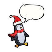 Christmas penguin — Vettoriale Stock