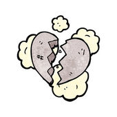 Cracked stone heart — Stockvector