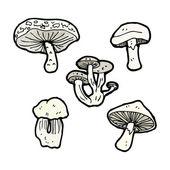 蘑菇集合 — 图库矢量图片