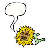 Retro sunflower — Stock Vector