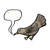 Verbeugung vogel — Stockvektor