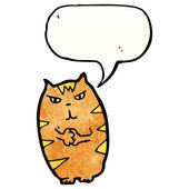 Scheming cat — Stock Vector