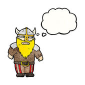 Viking with thought bubble — Stock Vector
