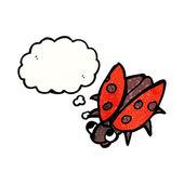 Schattig lieveheersbeestje — Stockvector