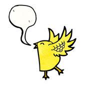 Yellow bird — Stock Vector