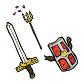 Medieval weapons — Vector de stock