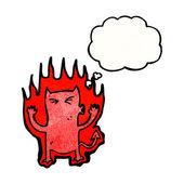 Little fire devil — Stock Vector