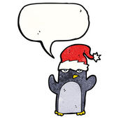Funny christmas penguin — Stock Vector