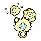 Huge diamond ring — Stock Vector