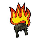 Hořící paruka elvis — Stock vektor