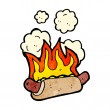 Flaming hotdog — Stock Vector #21157675