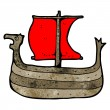 Royalty-Free Stock Vector Image: Viking boat