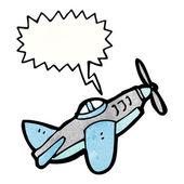 Propellern jaktplan — Stockvektor