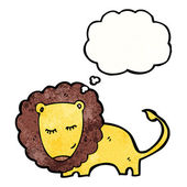 Funny lion — Stock Vector