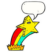 Shooting rainbow star — Stock Vector