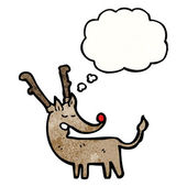 Rudolf the red nosed reindeer — Stock Vector