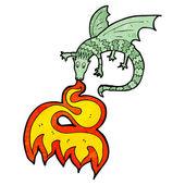 Dragon cracheur de feu — Vecteur