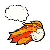 Flying head — Stock Vector