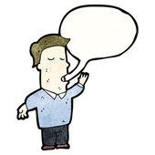 Man talking — Stock Vector