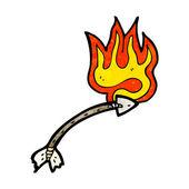 Flèche enflammée — Vecteur