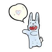 Vampire rabbit — Stock Vector