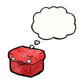 Box s myšlenkou bublina — Stock vektor