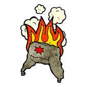 Flaming russian hat — Stock Vector