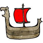 Viking boat — Stock Vector