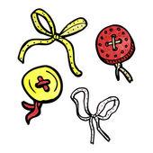Boutons et rubans — Vecteur