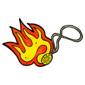 Flaming magic necklace — Stock Vector