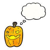 Spooky pumpkin — Stock Vector