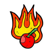 Flaming cherry — Stock Vector