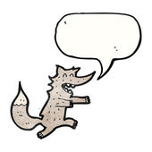 Wolf with speech bubble — Stock Vector