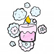 Scented candle — Stock Vector