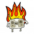 Stock Vector: Burning radio