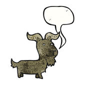 Goat with speech bubble — Stock Vector