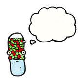 Tabletki antybiotyk znaków — Wektor stockowy