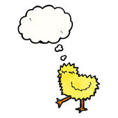 Chirping little chick — Stock Vector