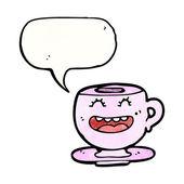 Teacup with speech bubble — Stock Vector