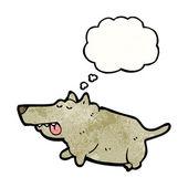 Fett hund — Stockvektor