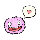 Little pink furry monster — Stock Vector